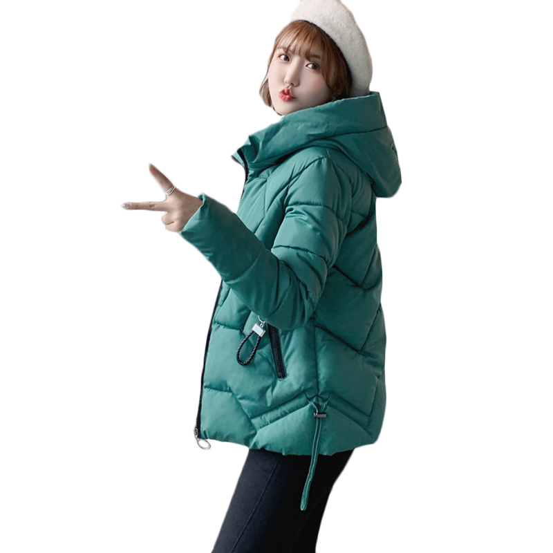 Plus size 5XL 6XL Women Korean Casual Down cotton Jacket New Winter Short Warm Cotton Jackets Women's Fashion Hooded   Parkas   F937