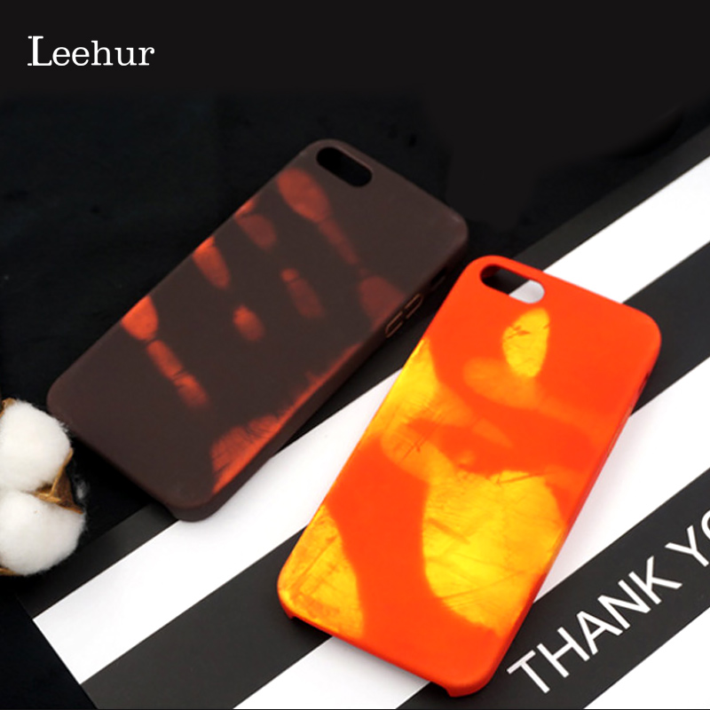 Temperature Cases Color Change Phone Case for IPhone X XS MAX XR 8 7 6 6s 5s Plus Thermal Heat Sensing Discoloration Back Cover
