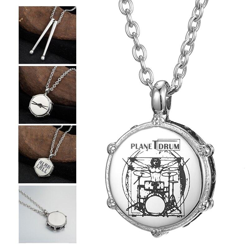Мужское ожерелье из нержавеющей стали s Music Rockers Jazz Band Drum Drummers хип хоп ожерелье Мужская цепочка кулон ожерелье для мужчин