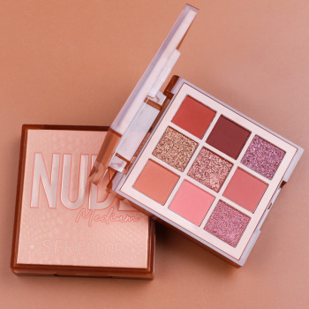9 Colors Nude Eyeshadow Powder Makeup Palette Matte Shimmer Eye Pigmented Powder Make Up New Warm Earth Color Eyeshadow new brand 9 color pigmento eye shadow palette professional shimmer matte eyeshadow make up palette maquiagem