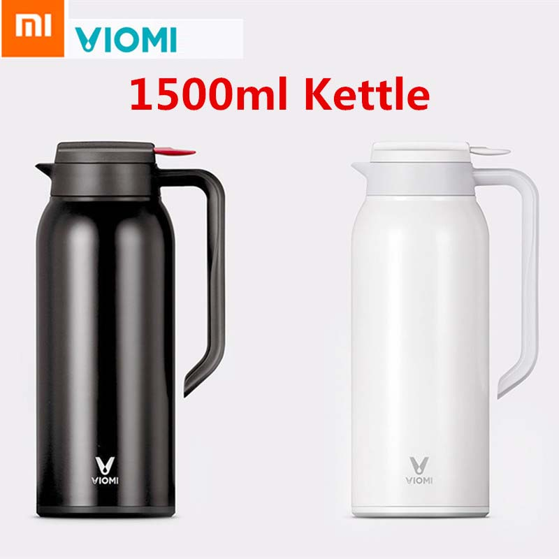 Original Xiaomi VIOMI Thermos Cups 1.5L Stainless Steel Vacuum Thermos Bottle 24 Hours Flask Portable Insulation Water Kettle