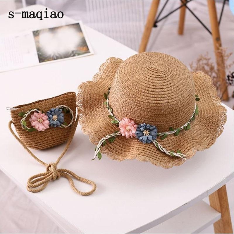 Baby Girls Kids Children Cap Summer Beach Sun Straw Hat Headwear Holiday