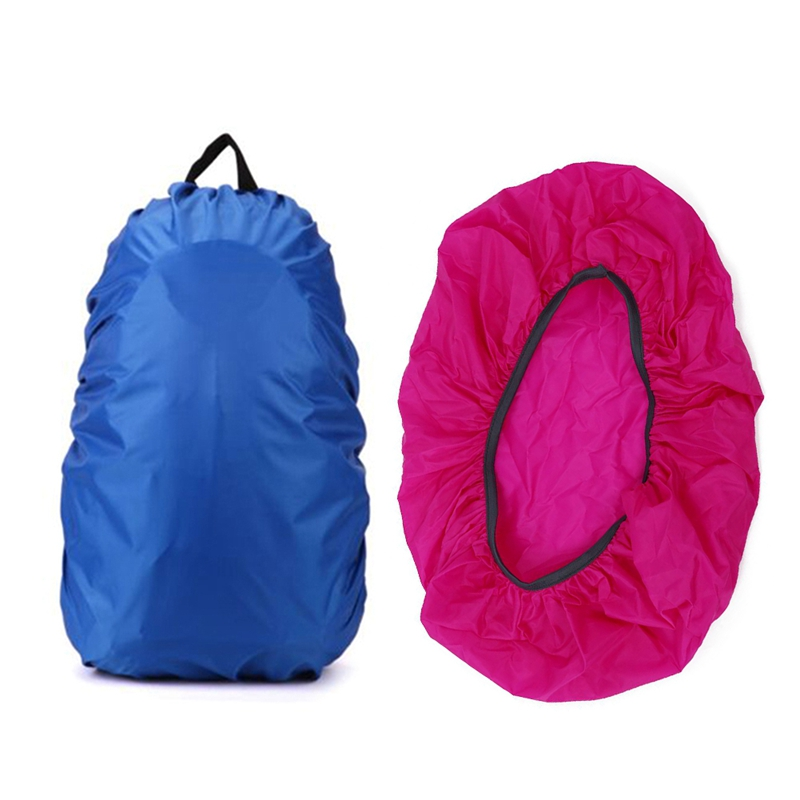 Hot 2 Pcs New Waterproof Travel Hiking Accessory Backpack Camping Dust Rain Cover 35L,Blue With Rose Red