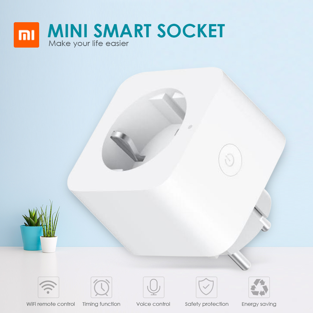 Xiaomi Smart House ZNCZ04LM Mini Smart WiFi Socket Compatible With Google Home Control Timing Function For Home Control Lamps