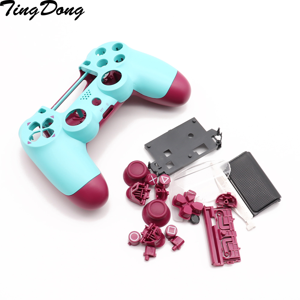 Replacement Full Shell And Buttons Mod Kit For Jds 040 JDM 040 DualShock 4 PlayStation 4 PS4 Pro Controller Housing Smooth Case
