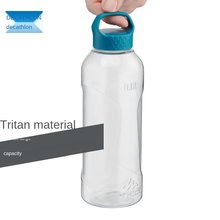 Water Cup Plastic Large Capacity Outdoor Tumbler Portable Clear Travel Exercise Kettle