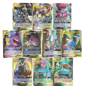 New Pokemon Toys Pikachu-Cards Cards-Tag-Team Carte English Game Battle EX GX 100pcs/Lot