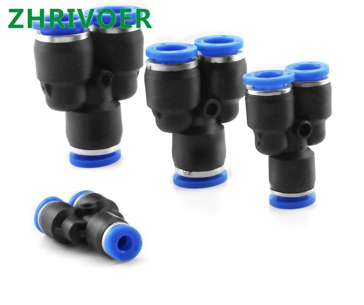 5 Pcs 12mm Tubing 5 Ports Push in Joint Air Pneumatic Connector Quick Fitting