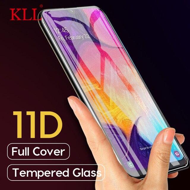 Vetro temperato curvo a copertura totale 11D per Samsung Galaxy A50 A30 A20 pellicola protettiva per Samsung M30 M20 M10 vetro protettivo