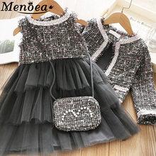 Menoea Одежда для девочек принцессы костюмы зимний стиль дети