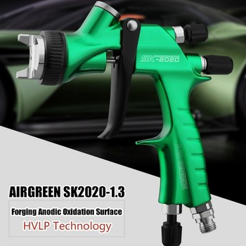 Professional Spray Gun HVLP 1.3mm Nozzle Pneumatic Spray Paint Gun With 600CC Cup Airbrush For Car Auto Repair Tool Painting Kit free shipping soonrise t50b car painting gun hvlp spray gun 600cc plastic cup gravity feed type 1 3mm nozzle