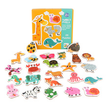 Puzzles matching puzzles toy Children Puzzle Games Early Learning Card for Kids Educational Toys animal/ vegetable/traffic Wood паззл vintage puzzles