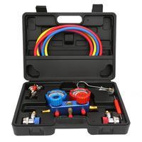 A/c ar condicionado refrigeração ferramenta de diagnóstico dupla manifold calibres válvula conjunto calibre coletor