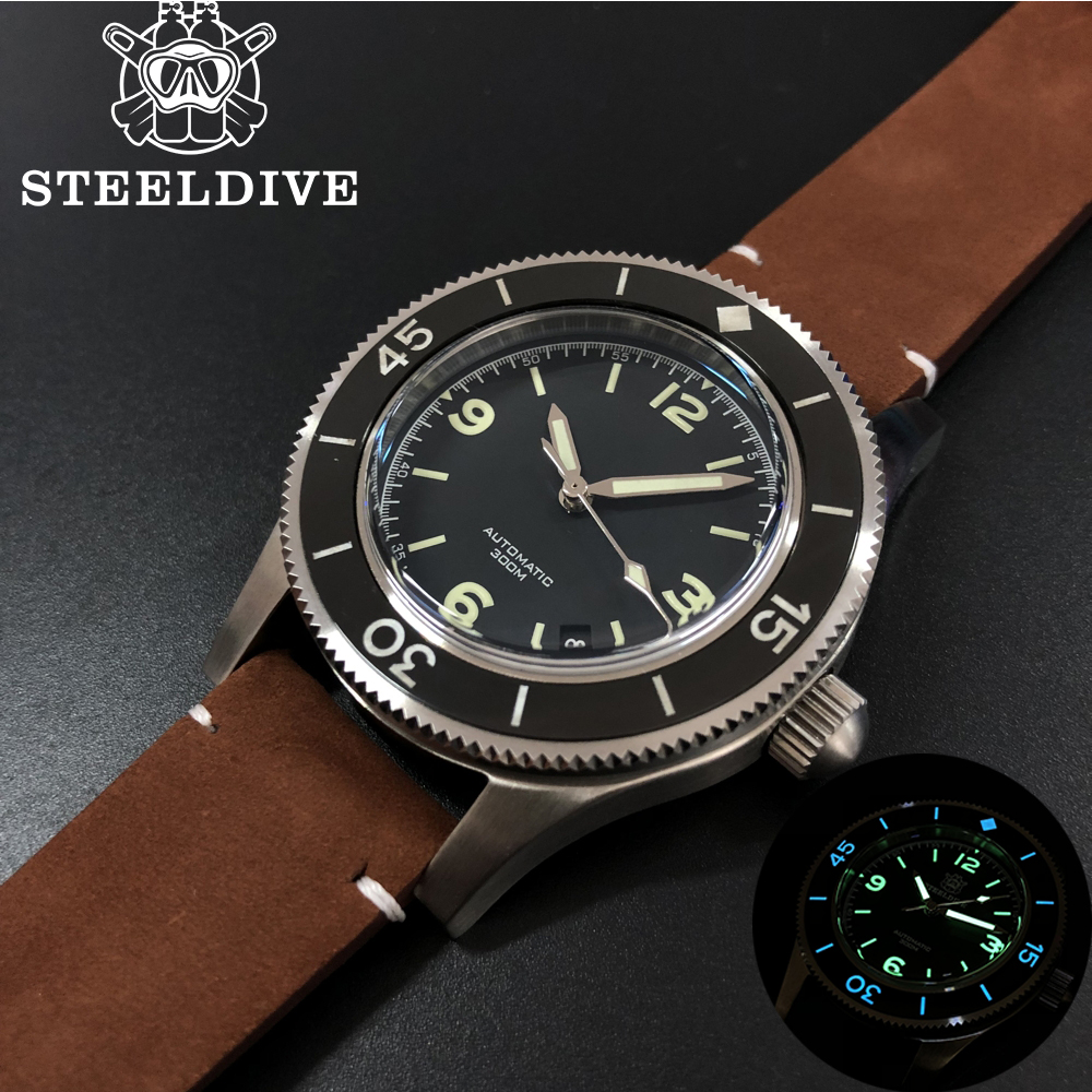 Steeldive 1952 World's First Dive Watch-Fifty Fathoms Steel Diving Watch 300m Mens Automatic Mechanical Watches Sapphire Luxury(China)