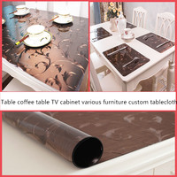 Europe Luxury party tablecloth Non slip waterproof table cloth oil proof pvc soft glass Plastic table cover coffee table mat