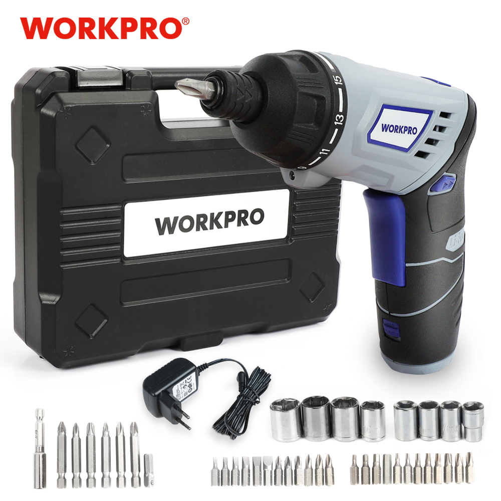 WORKPRO 3 6V Electric Screwdriver Cordless Screwdriver Rechargeable Lithium battery Screwdriver