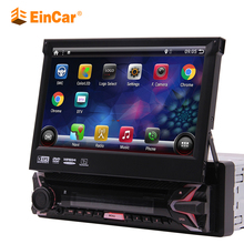 Android 9.0 simple Din rabattable capacitif écran tactile lecteur DVD autoradio GPS stéréo Bluetooth FM/AM/RDS Radio récepteur