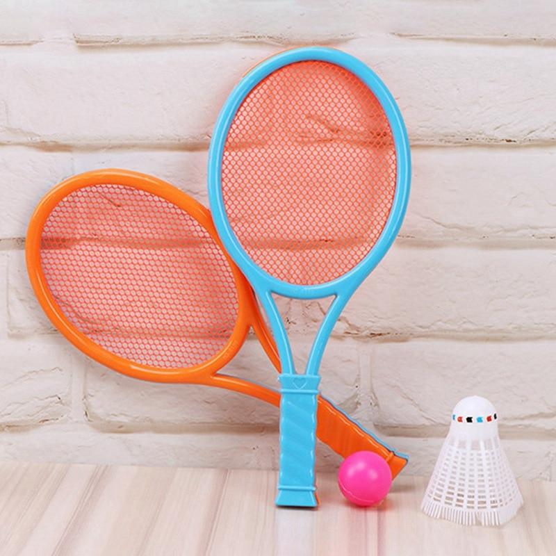 Kids Children Badminton Tennis Rackets Balls Set Outdoor Parent-Child Sports Educational Game Toys Random Color 1 Set
