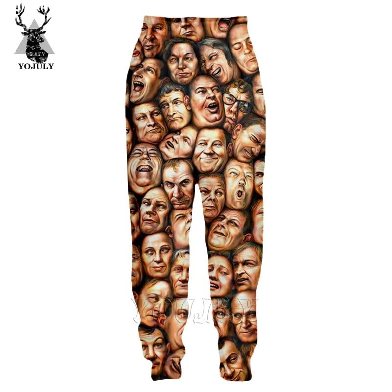 Nicolas Cage Pants Off White Many Faces Trousers Men's 3D Print Fashion Sports Joggers Sweatpants Hip Hop Streetwear Men P01