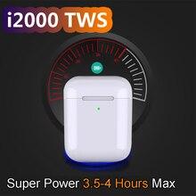 I2000 tws 1: 1 Wireless Bluetooth headsets 6D super bass Tap control for IOS Android PK i10 i30 i60 i200 i300 i500 i800 i1000TWS