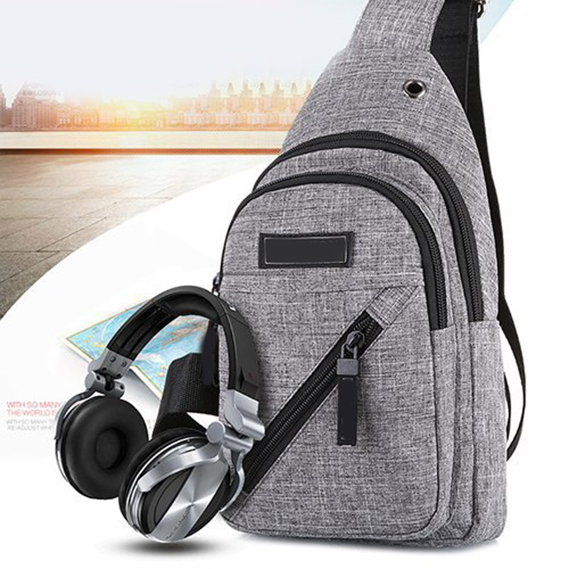 New Style Men Chest Messenger Sling Bag Casual Anti-Theft Crossbody Shoulder Bags