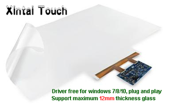 """Xintai Touch On sale! 10 points 75"""" Interactive touch foil Film through glass, for touch kiosk, table etc"""