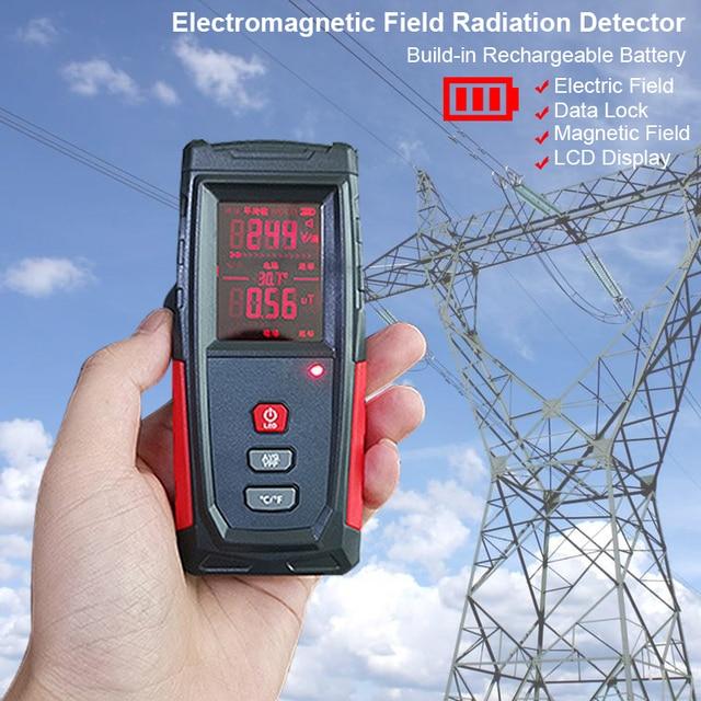 Radiation Detector Tester Counter Dosimeter Emission Electromagnetic Portable Dosimeter Emf Tester Field Radiation Detector