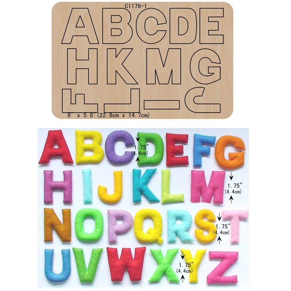 New  letters A to Z Wooden die Scrapbooking C1178-1 Cutting Dies