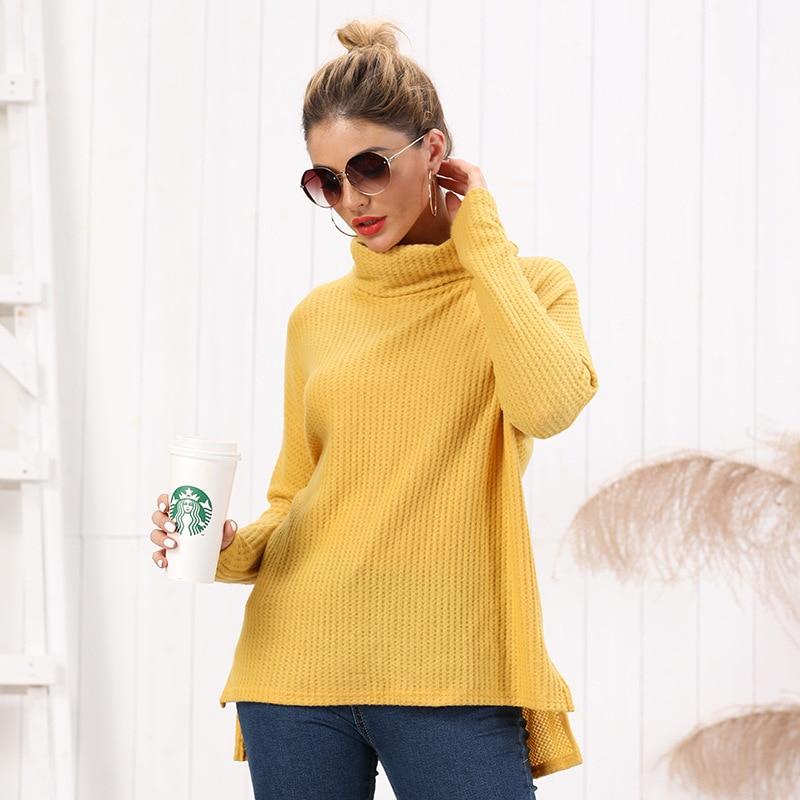 Daily Suit OWLPRINCESS Fashion Turtleneck Dress 2019 Autumn And Winter New Sweater Sweater Plain Long-Sleeve Sweater