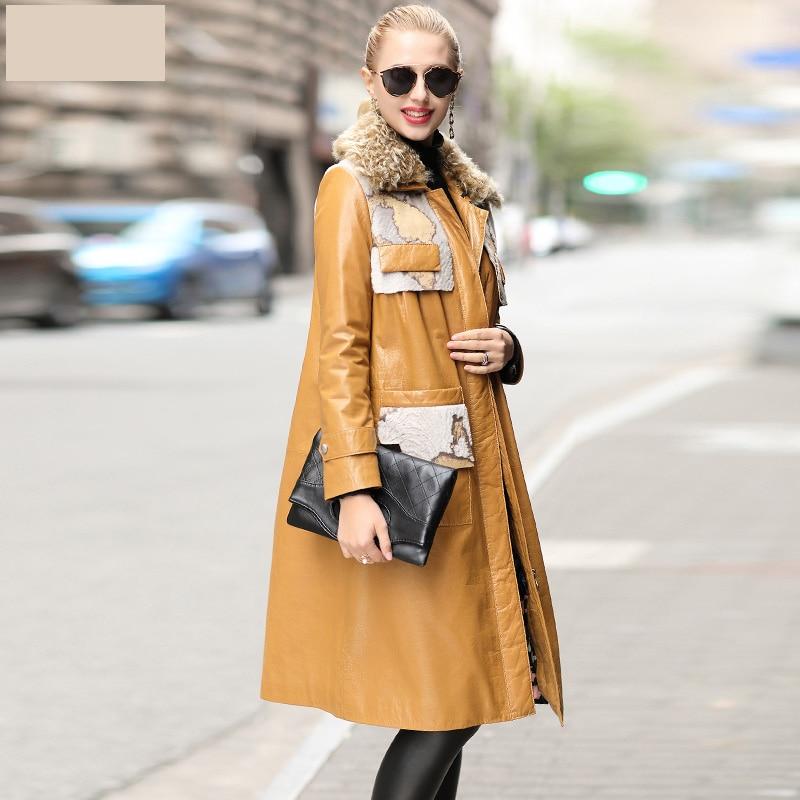 Autumn Winter Coat Women Clothes 2020 Real Genuine Leather Jacket Korean Vintage Sheepskin Down Coat Manteau Femme ZT4977