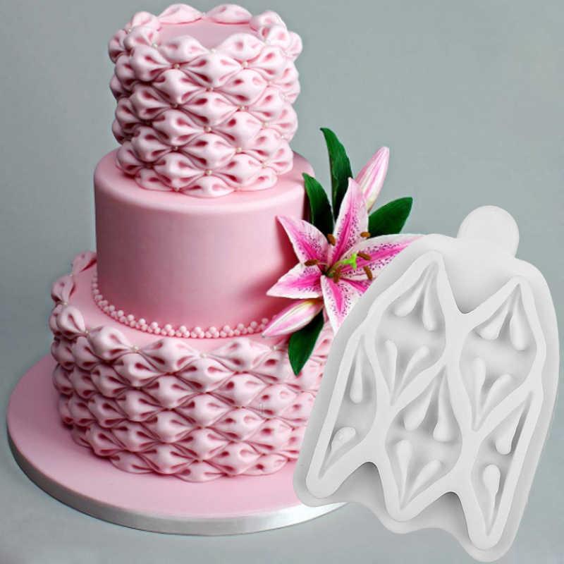 من السهل النسيج نفخة قالب سيليكون فندان قالب كعك أدوات تزيين السكر قوالب كعكة بسكويت الشيكولاتة لتقوم بها بنفسك أدوات الخبز