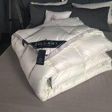 3~ 4 кг пуховое одеяло, пуховое одеяло, King queen, двойной размер, белое/серое/розовое/красное роскошное мягкое зимнее одеяло, одеяло, наполнитель