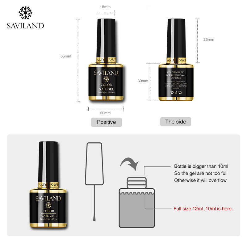 Saviland 10ml UV Nail Art Gel Lak Sterrenhemel Clear Adhesive Ster Lijm Voor Nagel Folies Overdracht nail gel polish