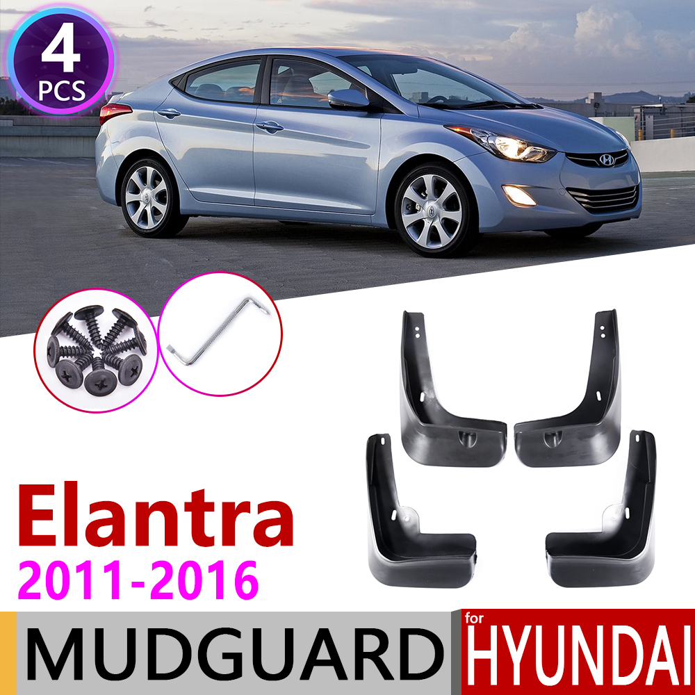 Car Mudflaps for Hyundai Elantra MD 2011 2012 2013 2014 2015 2016 Fender Mud Guard Flap Splash Flaps Mudguards Accessories
