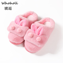 Women Winter Home Slippers Ladies Rabbit Animal Prints Fur Warm Slides Indoor Soft Casual Shoes For Women Sandals Plus Size 7.5 yomisoy lovely heart shaped ladies women home floor soft women indoor slippers sandals shoes female cashmere warm casual shoes
