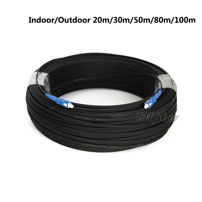 SM 3mm 20M 9//125um Fiber Optic Jumper Cable SCU//PC-SC//UPC Fiber Optic Patch Cord