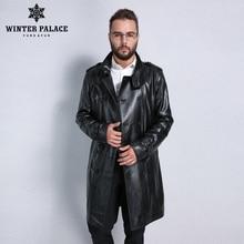 Veste en cuir Best Seller, cuir véritable, col Mandarin, peau de mouton, manteau mâle, veste en cuir hommes, vestes et manteaux en cuir pour hommes