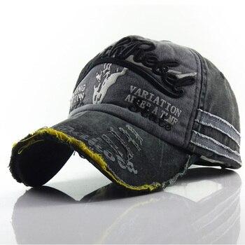 Hot 100% Washed Cotton Baseball Cap Snapback Caps Retro Letter Bone Hats For Men Women Gorras Hombre Dad Casual Casquette