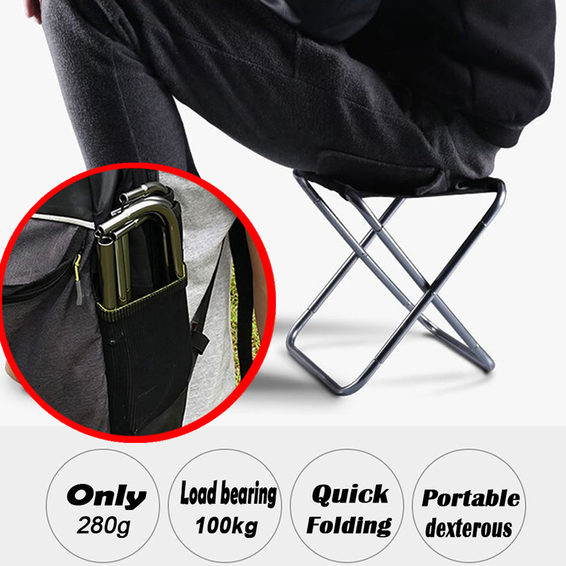 2021 New Portable Outdoor Fishing Stool Ultra Lightweight Folding Chairs Camping Picnic Chair Subway equipment Fishing Chairs
