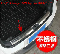 Para volkswagen tiguan 2010-2017 painel traseiro de aço inoxidável de alta qualidade windowsill  protetor de pára-choques traseiro sill carro-estilo