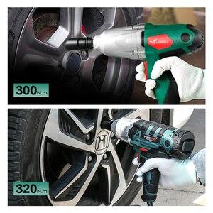 Image 5 - 450W elektryczny klucz udarowy 300Nm Max Torque 1/2 cala gniazdo samochodowe klucz elektryczny zmiana narzędzia opony