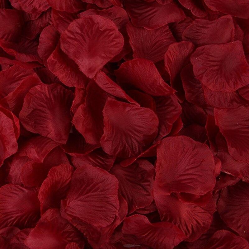 2000 шт Искусственные лепестки роз Свадебные Petalas красочные шелковые цветочные аксессуары
