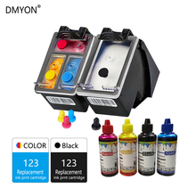 DMYON Refillable Ink Cartridge Replacement for HP 123 123XL for Deskjet 1110 2130 2132 2133 2134 3630 3632 3637 3638 3639