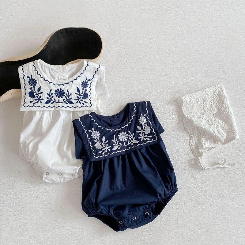 MILANCEL-body de algodón sin mangas para bebé, traje infantil bordado con cuello redondo, sólido, informal, novedad de verano 2021
