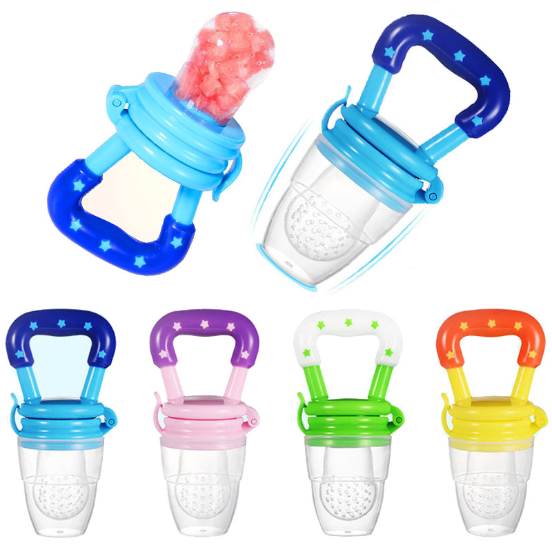 New Baby Food Pacifier Clips Soother Holder Baby Nipple Feeder Silicone Pacifier Fruits Infant Feeding Supplies Soother Nipples 1