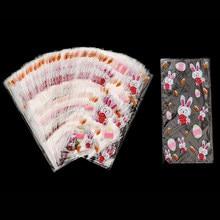 Cyuan 50 pces páscoa opp sacos de plástico doces sacos de embrulho coelho decorações da páscoa para casa feliz páscoa festa favores embalagem