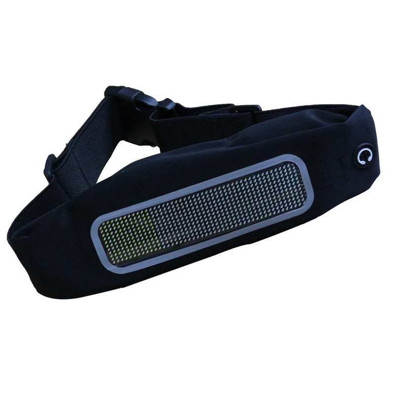 Waist Bag Fashion LED Fanny Pack Bluetooth Control Multi-Function Waterproof Belt Bags Mobile Phone Running Fanny Packs