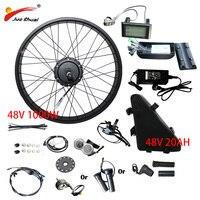 20''26''4.0 fat tire 48V1000W Electric Bike Conversion Kit Fat Bike Bicycle 48V20AH Battery Rear Hub Motor Wheel ebike Kit