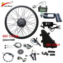 20''26''4.0 fat tire 48V1000W Electric Bike Conversion Kit Fat Bike Bicycle 48V20AH Battery Rear Hub Motor Wheel ebike Kit(China)