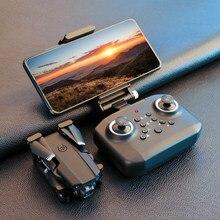 Jinheng novo mini zangão xt6 4k 1080p hd câmera wifi fpv pressão de ar altitude hold dobrável quadcopter rc zangão brinquedo do miúdo presente